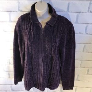 Alfred Dunner Vintage chenille cardigan